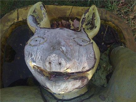 Creepy Pig Carving