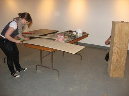 April Angela making plinths
